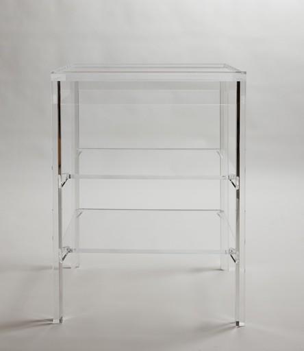 p a r k a v e n u e lucite table w16 d16 h27 - Lucite Table